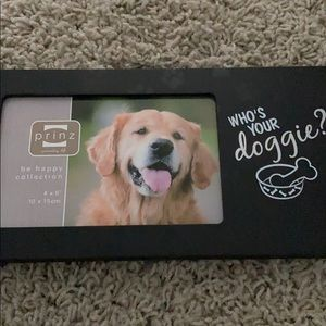 Dog picture frame
